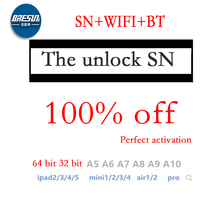 Number Address Serial Icloud Unlock iPad for Mini Air-1 Pro10.2 SN BT