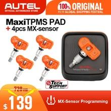 4 قطعة Autel MX الاستشعار 433 ميجا هرتز 315 ميجا هرتز MX الاستشعار العالمي ضغط الإطارات برمجة مستشعر تساوي ضغط الإطارات دعم Autel TS601 الوسادة TPMS أداة