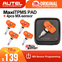 4pcs Autel MX Sensore di 433MHz 315MHz MX Sensore Universale TPMS Sensore Sensore di Pressione Dei Pneumatici di Programmazione Supporto Autel TS601 PAD TPMS Strumento
