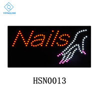 30x60cm high brightness LED nails advertising light board rectangle graphics flashing neon sign lamp commercial to hang indoor