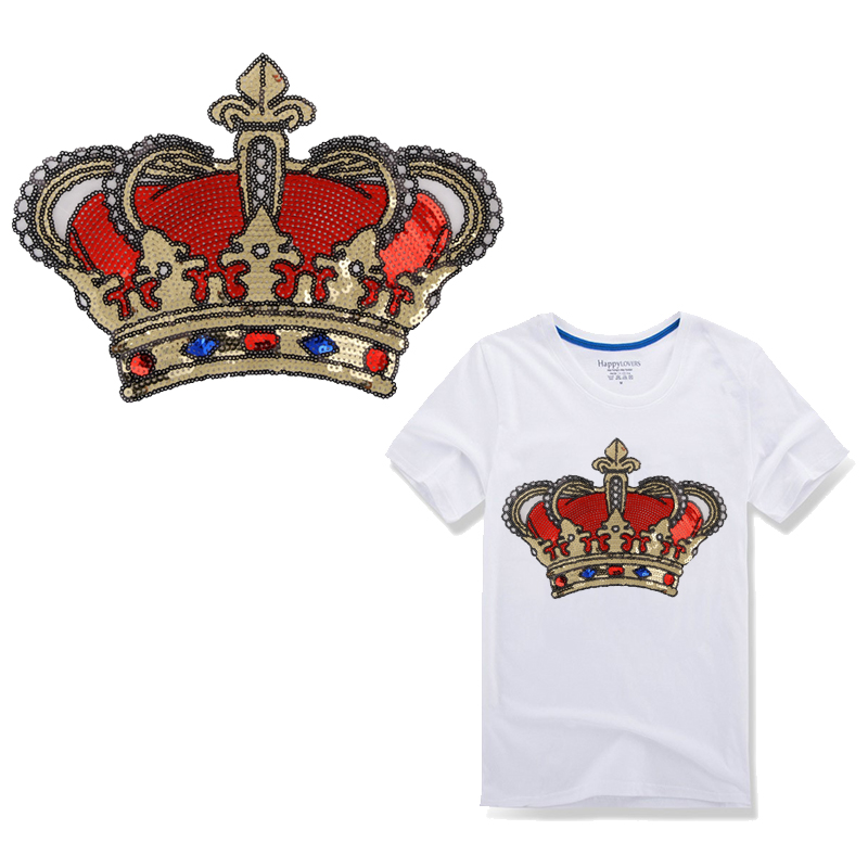 Crown Embroidered Iron On Applique Patch Prom Queen Royalty Red Hat