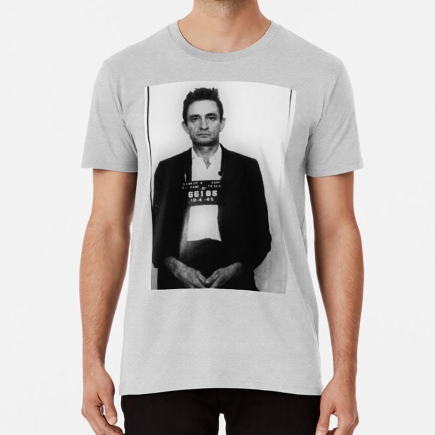 Johnny Cash Mugshot T shirt johnny cash mugshot country lyrics music song album vintage american history image