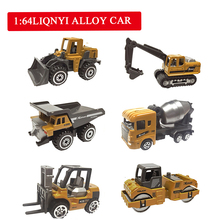 Alloy Mini Engineering Car Model 1:64 Metal Diecast Toy Vehicle Dump Truck Forklift Excavator Play Set Gift