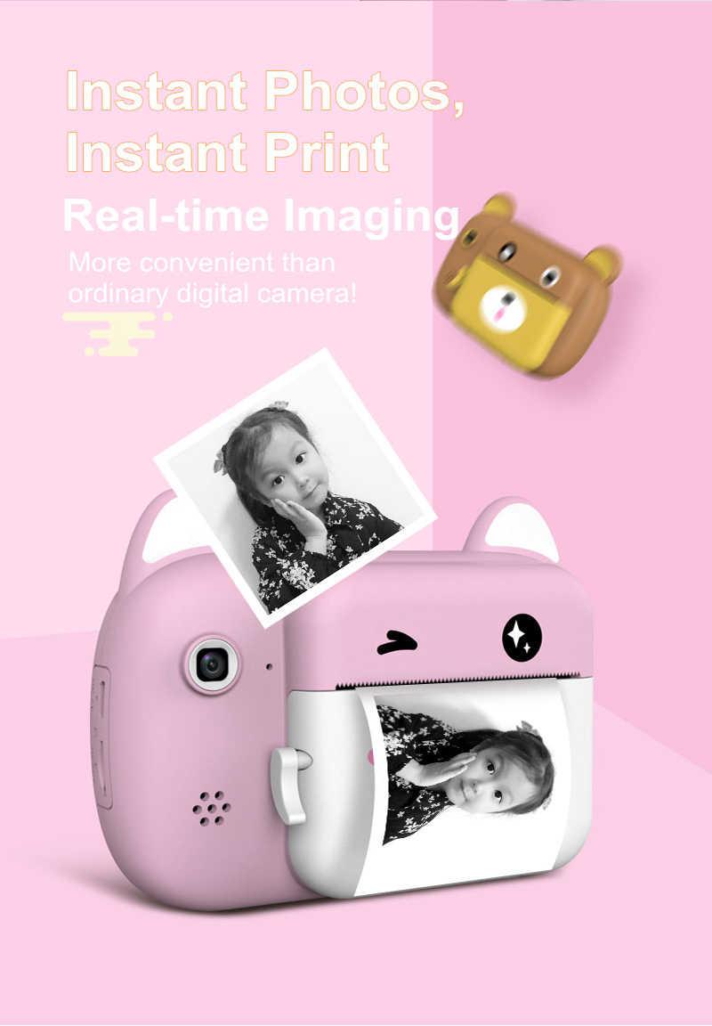 2,4 дюйма IPS цифровая детская камера для печати детская камера термальная Цифровая детская обучающая игрушка подарок видеокамера Polaroid