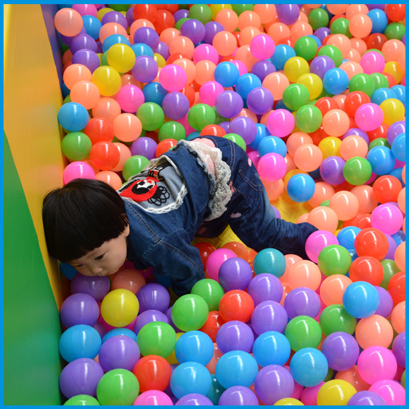 100 Pcs/lot Eco-friendly Colorful Ball Soft Plastic Ocean Ball Baby Kid Swim Pit Toy Water Pool Ocean Wave Ball Dia 5.5cm