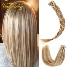 Remy Tape en extensiones de cabello humano Blonde European Hair 16 a 20 pulgadas Double Side Tape Seamless Skin Weft Balayage Color Real Hair Cinta en Natural Hair Extensions Largo y recto