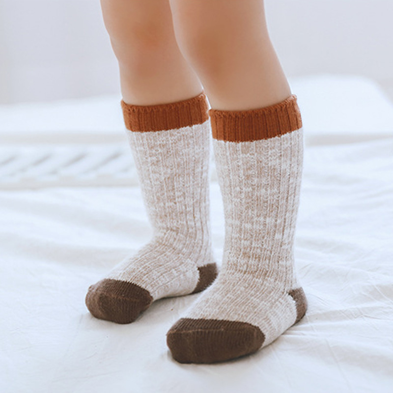 Wool Warm Socks For Baby Winter Ankle Socks Girls Boys Thick Anti-Slip Rubber Sole Floor Socks Kids Infant Newborn Socks Sokken