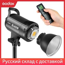 Godox LED Video Light SL 60W 5600K White Version Video Light Continuous Light for Studio Video Recording