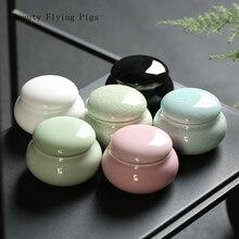 Ультра маленькие керамические мини-контейнеры для чая запечатанные банки ароматного порошка керамические банки для таблеток жемчужный порошок портативный контейнер для хранения путешествий