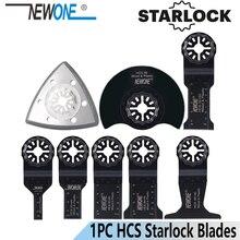 Newone starlock 10mm/20mm/32mm/45mm/65mm hcs viu lâminas semi-círculo almofada de lixamento para ferramentas oscilantes de energia elétrica multi ferramenta