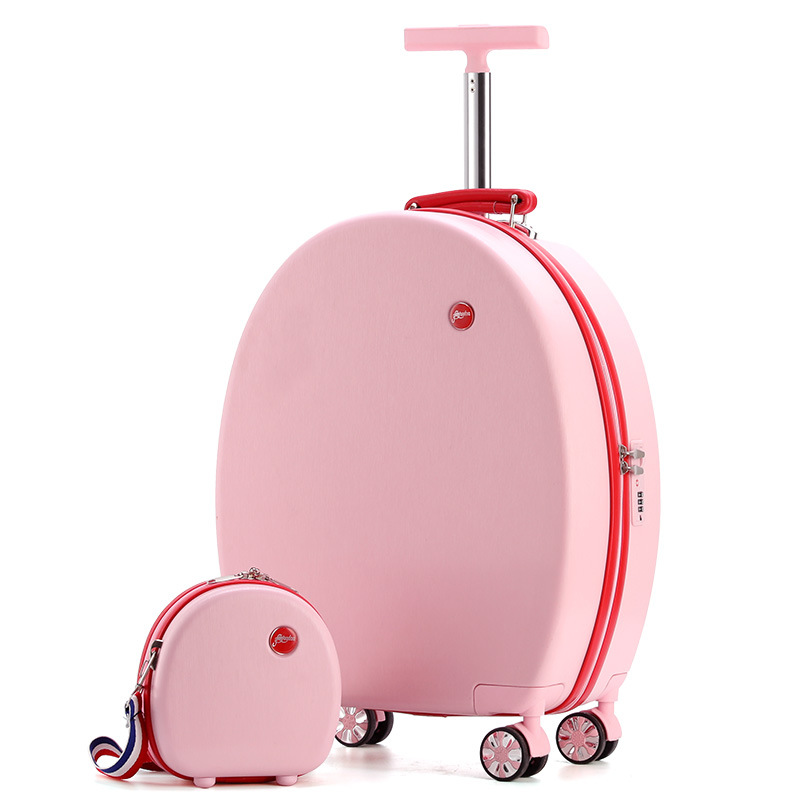 20''Rolling Luggage Set Children Suitcase With Wheels Kid Trolley Bag Girl's Travel Cabin Carry On Luggage Cartoon Cute Box Cute