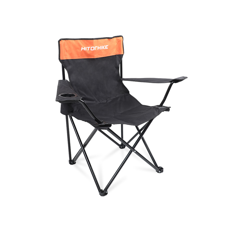 Hitorhike Wholesale Cheap Portable Outdoor Iron Camping Arm Chairs