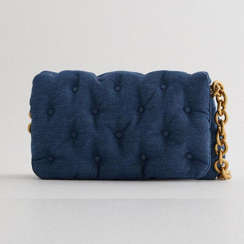 Дизайнерские сумки с толстой цепочкой женская сумка 2020 Роскошные Синие Большие сумки мессенджеры Ретро джинсовая стеганая сумка через плечо большие кошельки|Сумки с ручками|   | АлиЭкспресс - Аналоги сумок с показов мод осень-зима 2020/21