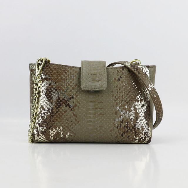 Customized Crossbody Bag Chain Women New Style Embossed Python PU Leather Handbag Fashion Phone Pouch Shoulder Bag Designer