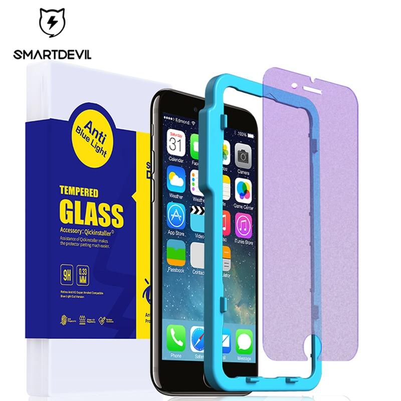 SmartDevil vidrio templado anti-luz azul para 6s iphone 6 plus protector de pantalla para teléfono móvil película protectora mate