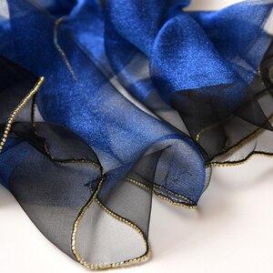 Image 5 - 2019ผ้าพันคอผ้าไหมผู้หญิงShinnyผ้าพันคอFoulard Femmeผ้าคลุมไหล่ผ้าไหมผ้าพันคอผ้าพันคอHijabผ้าพันคอชายหาดPoncho