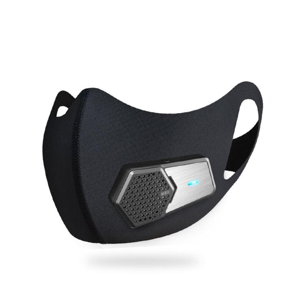 Smart Dustproof And Anti-Fog Masks Pm2.5 Breathing Valve Electric Mask 3D Silicone Seal Elastic Antibacterial Cloth Mask