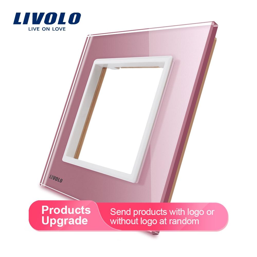 Livolo Luxury Colorful Pearl Crystal Glass, 80mm*80mm, EU Standard, Single Glass Panel For Wall Switch Socket,C7-SR-17/18/19