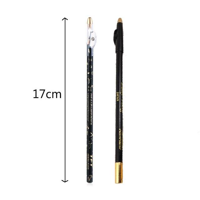 1 Pcs Waterproof Long-lasting Excellence Eyebrow Eyeliner Pencil Eye Makeup Beauty Tools Brown/Black With Sharpener Lid New 5
