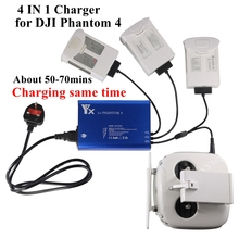 4In1 Intelligente Für DJI Phantom 4/4PRO/+/4A Drohnen Batterie Fernbedienung Ladegerät Smart Schnelle Lade gleichen Zeit Hub Teile