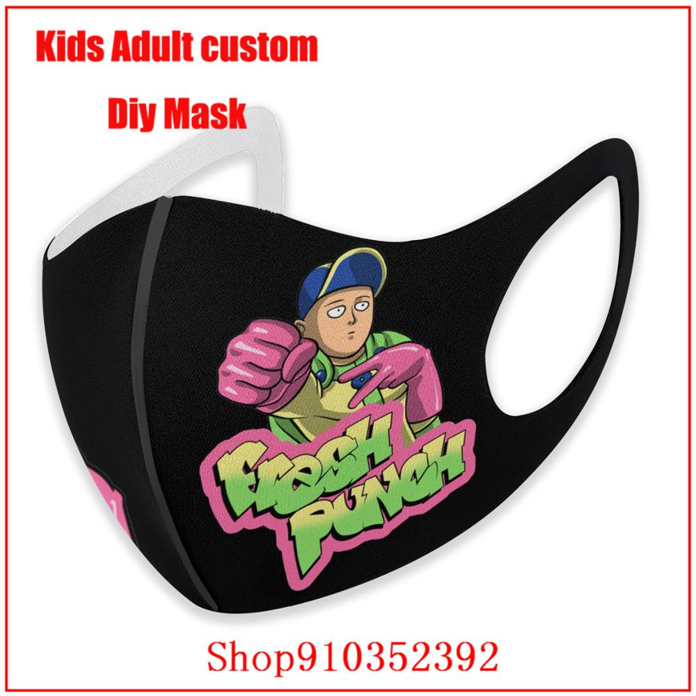 Onepunch-man Saitama Manga Anime Fresh Prince Of Bel-air Fresh Punch Hip-hop Urban DIY fashion mask cloth face masks protective
