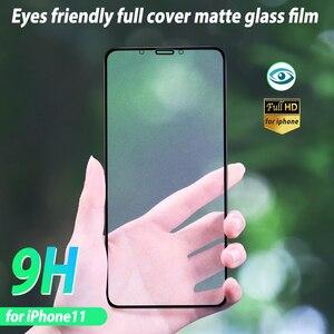 Image 5 - Cubierta completa película de vidrio esmerilado para Iphone 11 Iphone11 Pro Max vidrio protector mate para Iphone11 Pro Xi xs Xr X