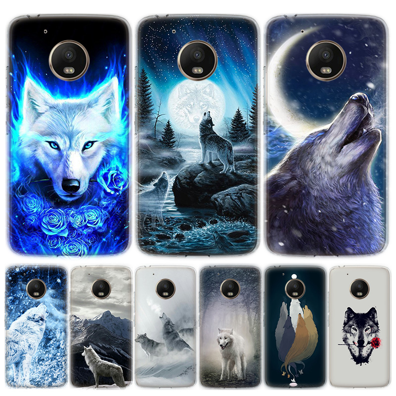 Snow White Blue Eyes Wolf Phone Case For Motorola MOTO G8 G7 G6 G5 G5S G4 E6 E5 E4 Plus Play Power One Action Soft Silicone TPU