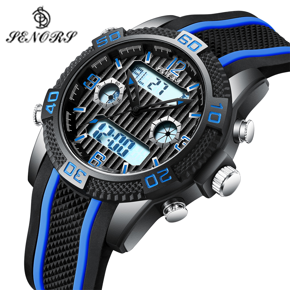 Senors Digital watch Fashion Outdoor Sport Watch Men Multifunction Watches Alarm Clock Chrono 3Bar Waterproof reloj hombre