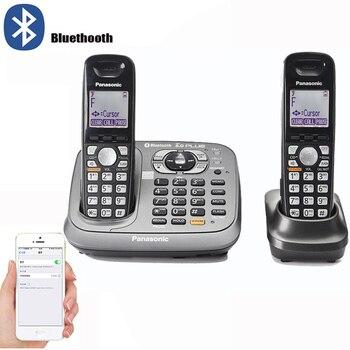 Bluetooth Fuction DECT 6,0, цифровой беспроводной стационарный телефон с системой ответа, клавиатура, Домашние беспроводные телефоны, черный цвет