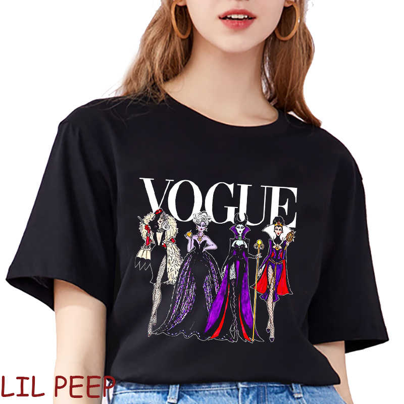 Mode Gothic Vogue Prinses Schurken Casual Camiseta Mujer Grappige T-shirts Katoenen Tops Harajuku Zomer Grafische Tees Vrouwen