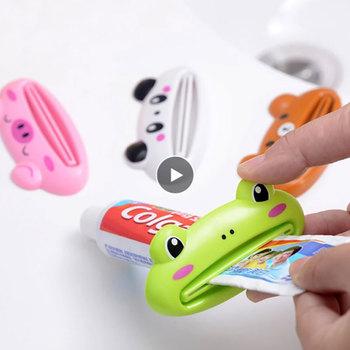 1 sztuk dozownik pasty do zębów słodkie i przydatne plastikowe zwierząt kreatywny przenośny tubka do pasty do zębów wyciskacz uchwyt do pasty do zębów narzędzia tanie i dobre opinie Aihogard CN (pochodzenie) Z tworzywa sztucznego 9 cm x 4 5 cm Toothpaste Dispenser 10 grams (about)