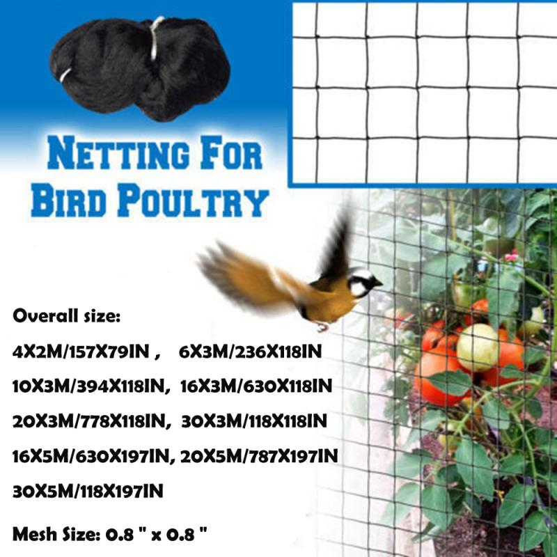 Anti Bird Net Preventing Crop Netting Mesh Garden Fruit Plant Tree Pond Protection Netting Garden Tools Supplies (Mesh 2cm)