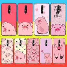 CUTEWANAN Cute PINK Kawai Pig Phone Case For Oppo
