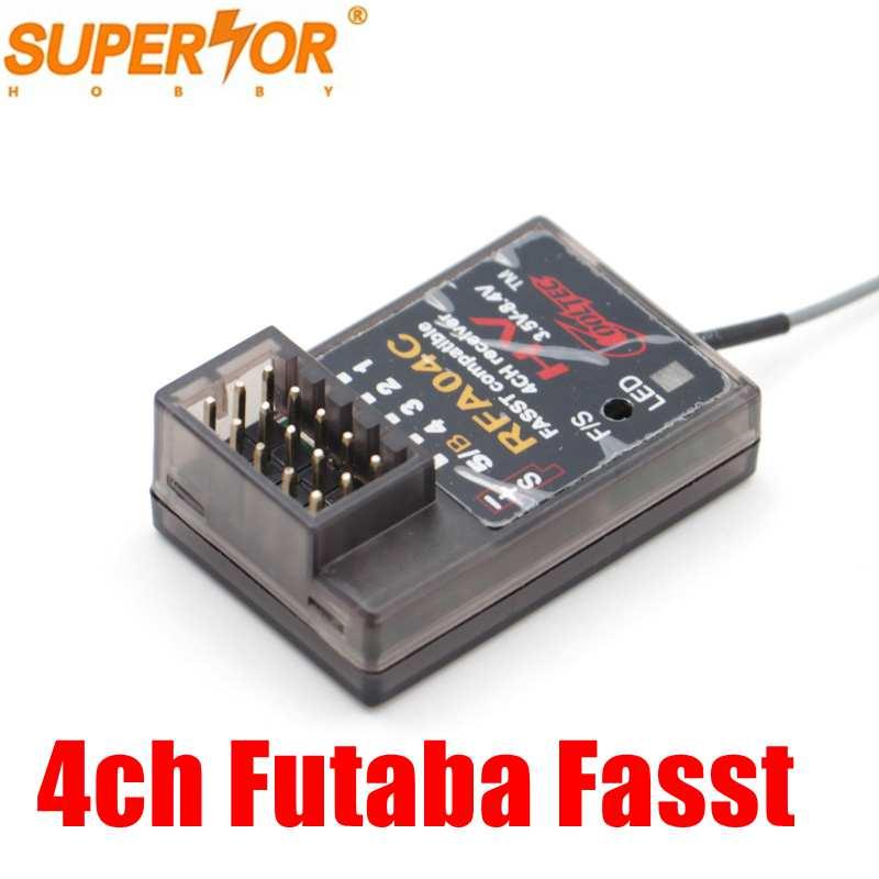 RFA04C Cooltech 4 canaux fasst récepteur compatible pour Futaba 3PK 4PK RC voiture modèle Surface systèmes C1 Mode