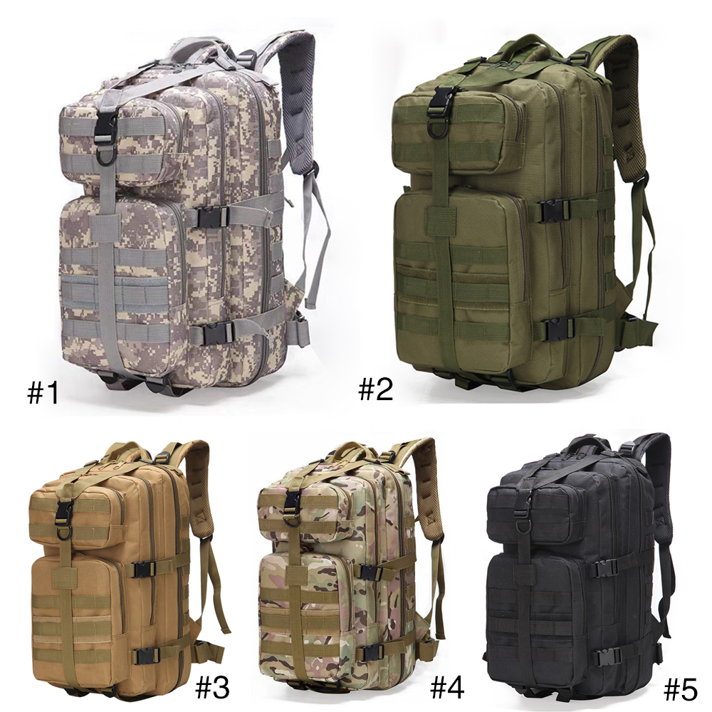 30/35/37L/40L Military Backpack Tactical Rucksacks 3P Waterproof Tactical Backpack 800D Fishing Camping Hunting Bag