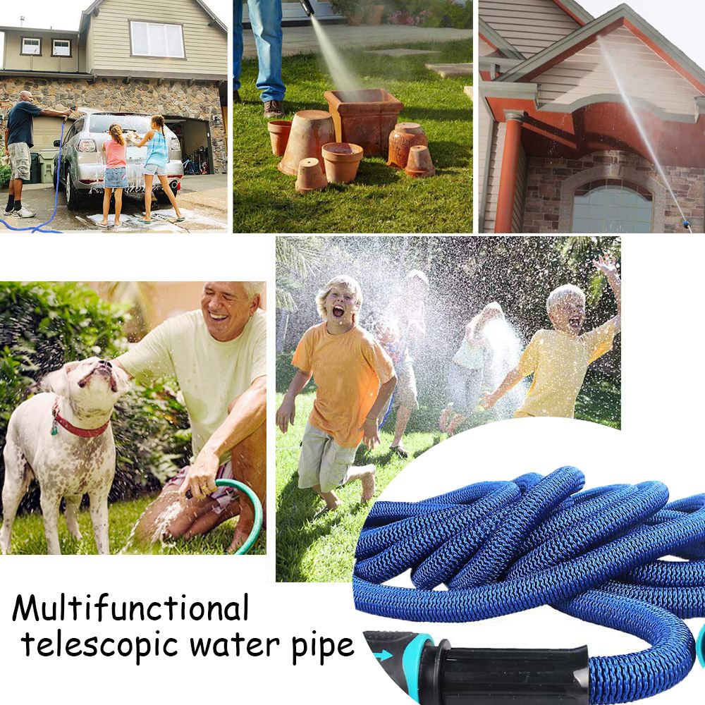 TPE Telescopic Water Pipe Garden Hole Reels Magic Flexible winter Preven Burst Plastic Pipe For Garden Cleaning Watering Flowers