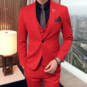 Slim fit Red Mens Suit 2020 3
