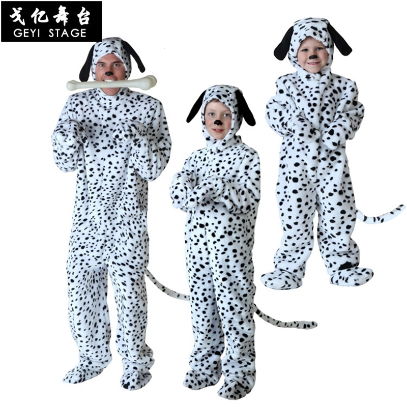 Infant Dalmatian Costume | Baby Boys Girls Onesie Dalmatians Spotty Dog Cosplay Costume Flannel Warm Black White Cute Animal Kigurumi Kids Jumpsuit Pajama