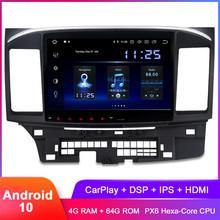 Dasaita 10 2 #8222 IPS Android 10 samochodowe Stereo GPS dla Lancer 10 EVO 2010 2011 2012 2013 2014 2015 2016 2017 Radio samochodowe DSP Audio wideo tanie tanio CN (pochodzenie) Jeden Din 10 2 4x50W System operacyjny Android 10 0 Jpeg ABS+IRON 1024x600 4 5kg Nadajnik fm Tuner radiowy