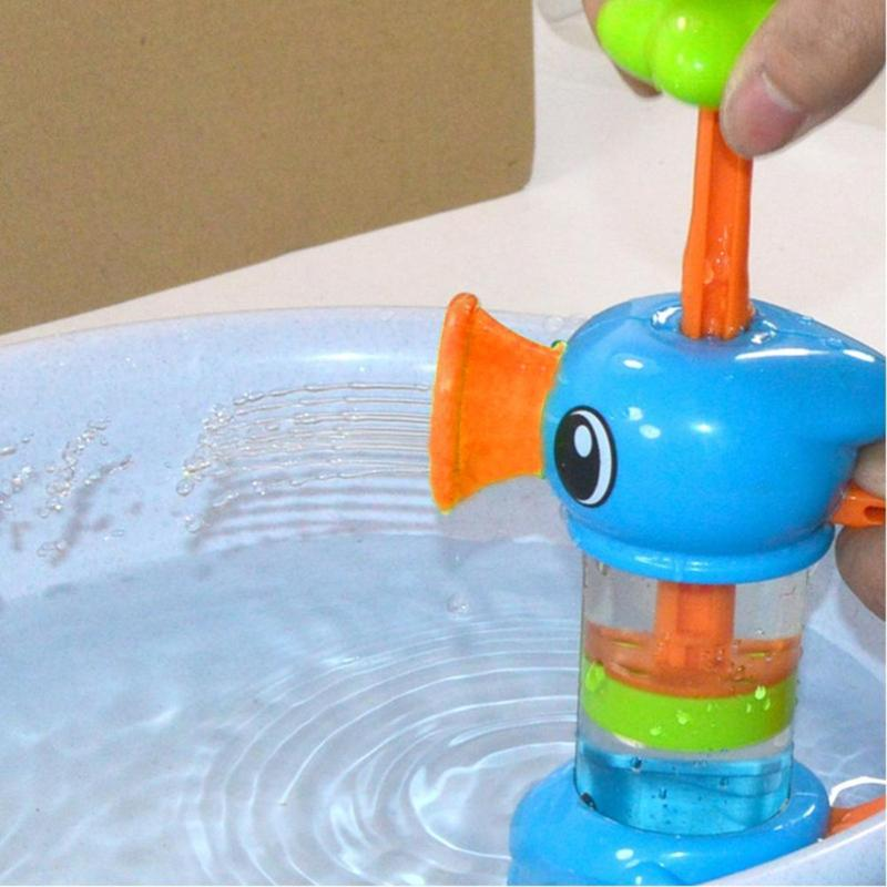 Baby Bath Water ToysEco-friendly ABS Sea Horse Sprinkler Pumping Design Colourful Hippocampal Shape Toy For Children Gift