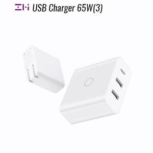 Image 1 - ZMI USB מטען 65W 3 יציאת עבור אנדרואיד iOS מתג חכם פלט סוג C 45W USB A 20W מחוון אור מתנה כבל