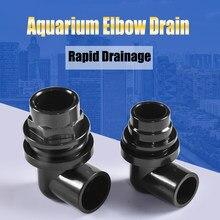 20/25mm tanque de peixes do aquário tubo de drenagem conector do tanque de água 90 graus cotovelo drenagem comum saída de água anteparo pvc