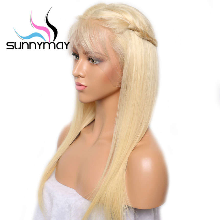 Sunnymay 613 13x4 13x6 Lace Front Wig With Baby Hair Pre Plucked Blonde Wig Remy Hair Glueless Lace Wig Bleached Knots For Women