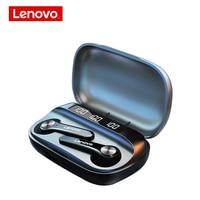 Neue Lenovo Drahtlose Kopfhörer QT81 Bluetooth 5,0 Wasserdichte Kopfhörer Touch-Taste Hifi Stereo Ohrhörer 40mAh Batterie Mit Mic