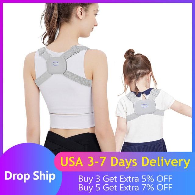 Smart Back Posture Corrector Back Pain Relief Support Spine Waist Straps Posture Correction Silver Belt For Men Women Kids