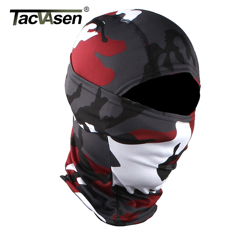 TACVASEN Camouflage Military Tactical Balaclava Hood Ninja Motorcycle Hunt Helmet Liner Headwears Full Face Masks Airsoft Gears(China)