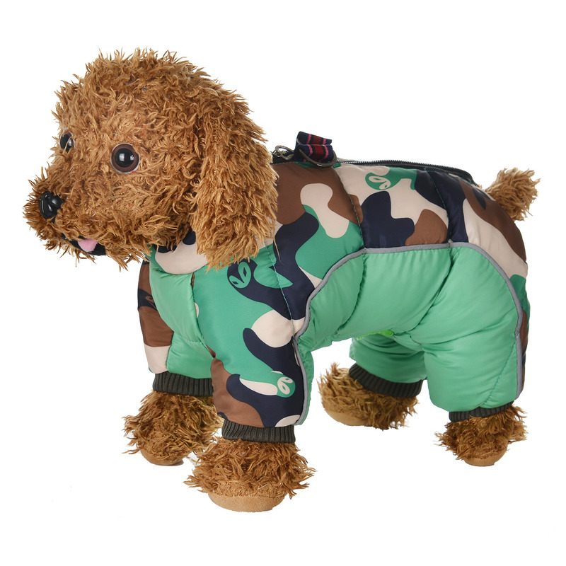 Reflective and Warm Dog Jacket and Waterproof Winter Dog Clothing with Strong Zipper and D-Ring 26
