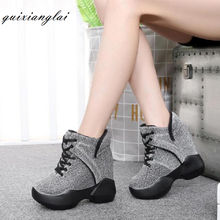 10cm super high heel sneakers autumn and