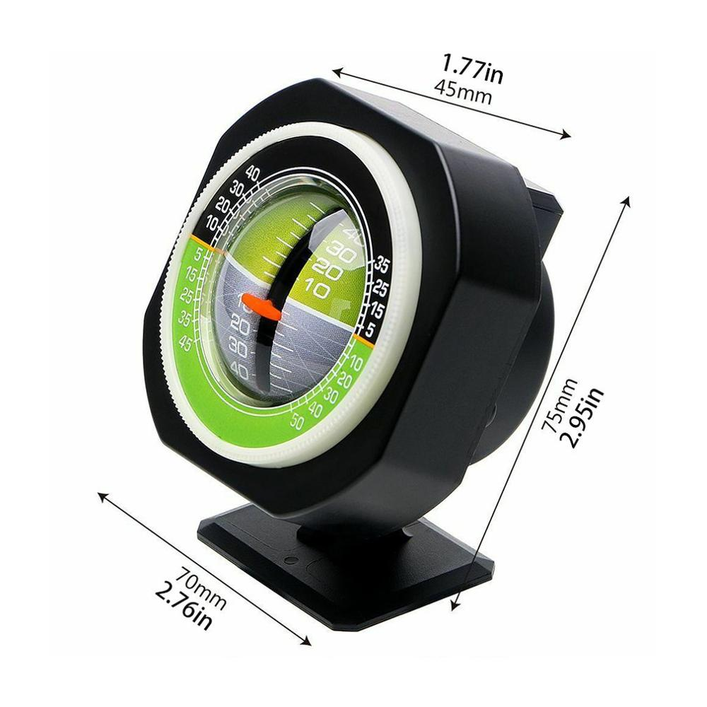 Car Compass Auto Vehicle Slope Meter Level Declinometer Gradient Inclinometer High-precision Vehicle Car Slope Meter