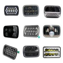 Led 5x7 7X6 pouces phare rectangulaire pour Jeep Cherokee XJ Wrangler YJ camion 4X4 moto DRL salut feux de croisement phare 55W 60W 90W